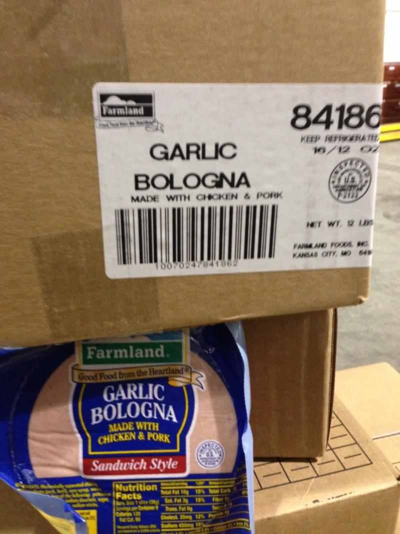 12 lb Garlic Bologna 16/12oz slcd